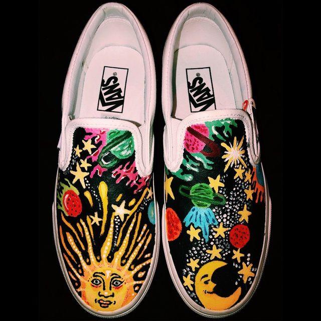 Painted shoes diy, Vans