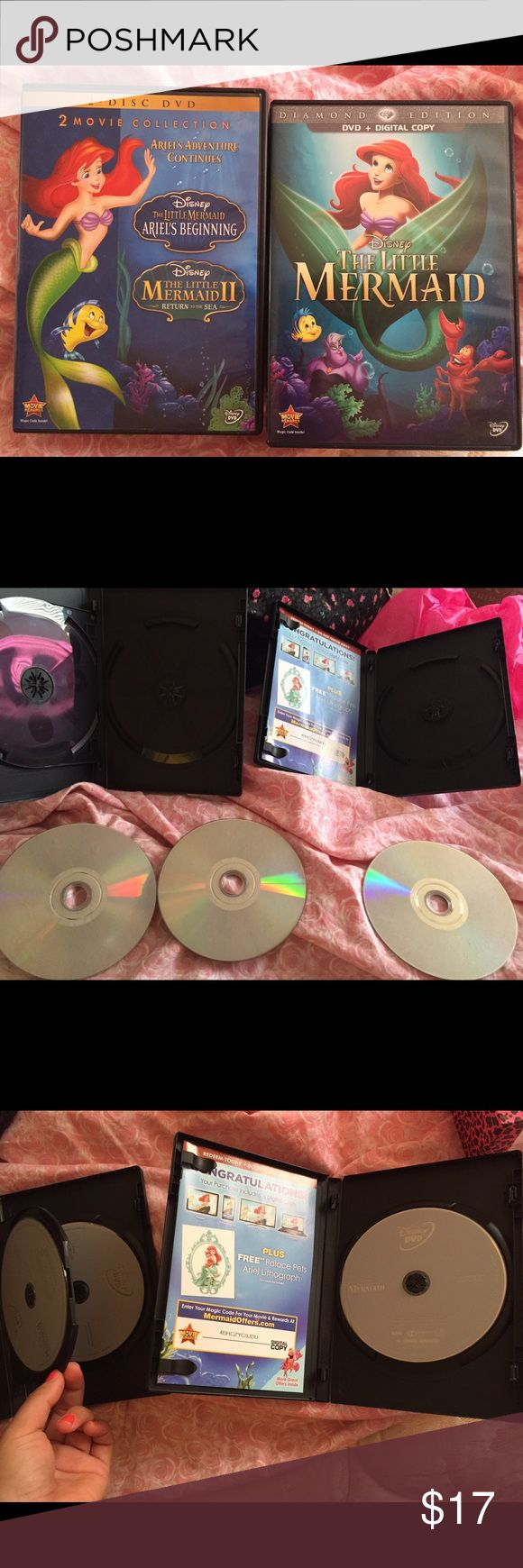 Disney dvd Two dvd boxes. One has two discs and the other one just one. Brand new just watch it one time! In great condition almost like new Disney Other