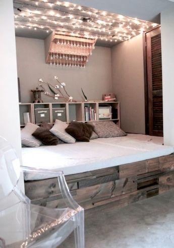 Modern Bedroom Fairy Light Ideas