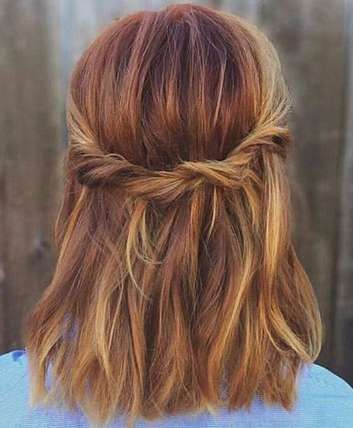 15 Beautiful Easy Hairstyle, Half Up Half Down