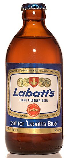 "Labatt's beer | Labatt Breweries Ltd - Labatt's Blue........we don't use ""stubbies"" anymore because of science :)"