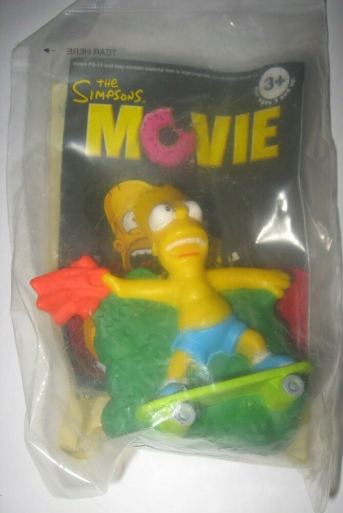 2007 The Simpsons Movie Burger King Kids Meal Toy Bart Simpsons Factory Sealed In 2020 The Simpsons Movie Simpsons Toys Simpsons Treehouse Of Horror