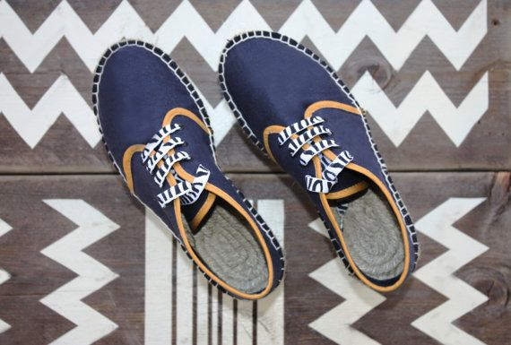 Espadrilles sneakers flat women's shoes blue by TrinityAndTheCat