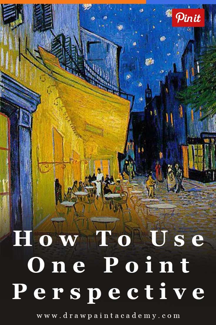 How To Use One Point Perspective To Improve Your Artworks | One Point Perspective | Drawing | Painting | One Point Perspective Art Lessons via @drawpaintacadem