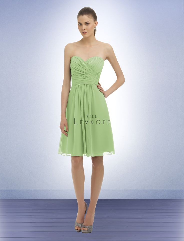 Bridesmaid Dress Style 323  This is my favorite color. Pistachio.