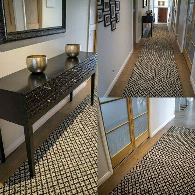 "We love the way the Custom ""Warwick"" Runner ties in effortlessly with the side table bringing this whole look together #runnerrug  #runners #rugs  #rugdesign #interiordesign #sourcemondialNZ"