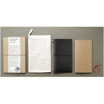 Midori TRAVELERS Notebook // Black-32