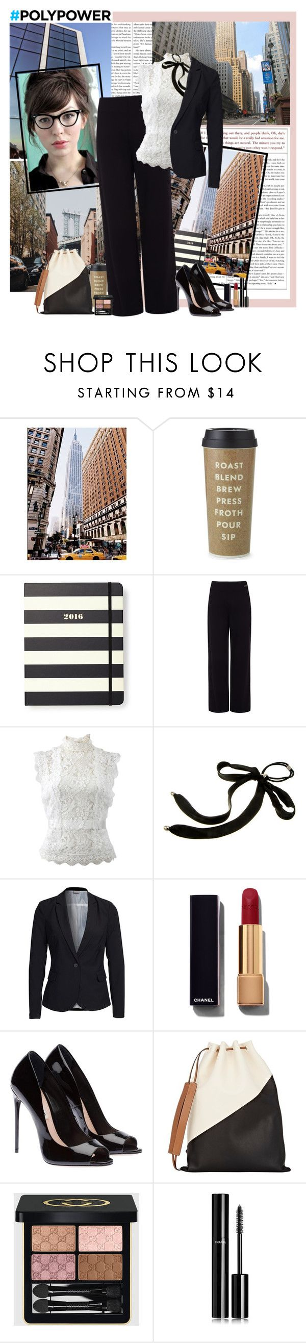 """Power up"" by polybaby ❤ liked on Polyvore featuring Kate Spade, Pink Tartan, Oscar de la Renta, Colette Malouf, Vero Moda, Chanel, Marni, Gucci and PolyPower"