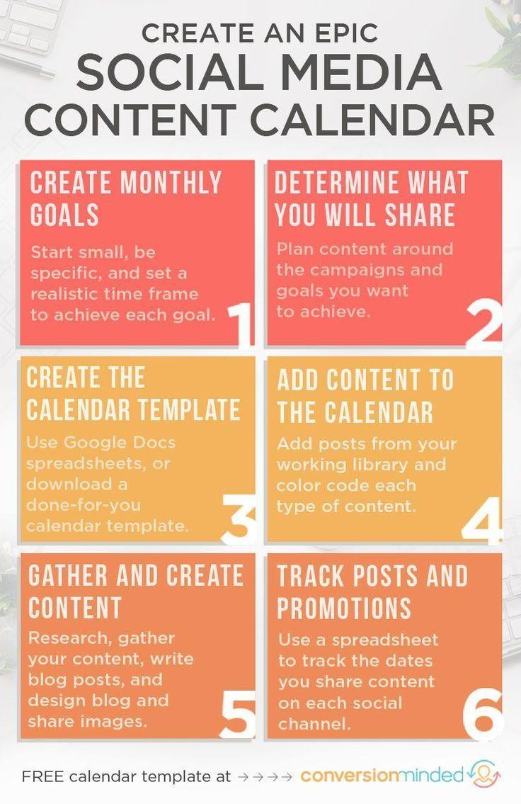 Create An Epic Social Media Content Calendar For Your Blog