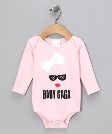 Take a look at this Pink 'Baby Gaga' Bodysuit - Infant by Pluto on #zulily today!
