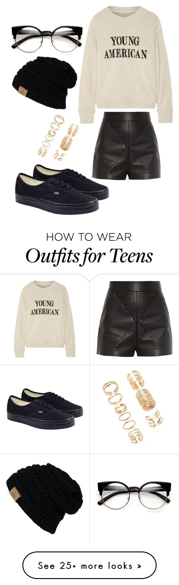 """teens clothing"" by madisonksykes on Polyvore featuring Balenciaga, The Elder Statesman, Vans and Forever 21"