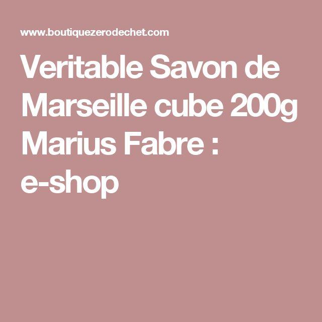 Veritable Savon de Marseille cube 200g Marius Fabre : e-shop