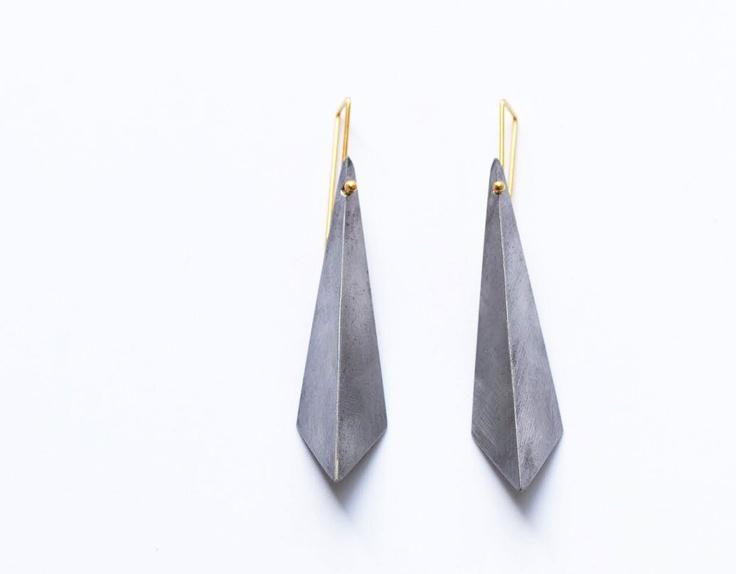 geometric jewelry / steel kite earrings