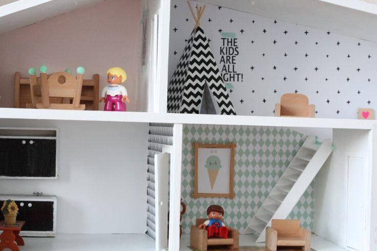 poppenhuis Lundby, dollhouse Lundby, poppenhuis pimpen, Lundby dollhouse renovation