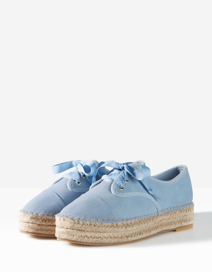 Plateau sneakers baby blue