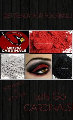 Arizona Cardinals Fans here's the perfect eyeshadow for game day.