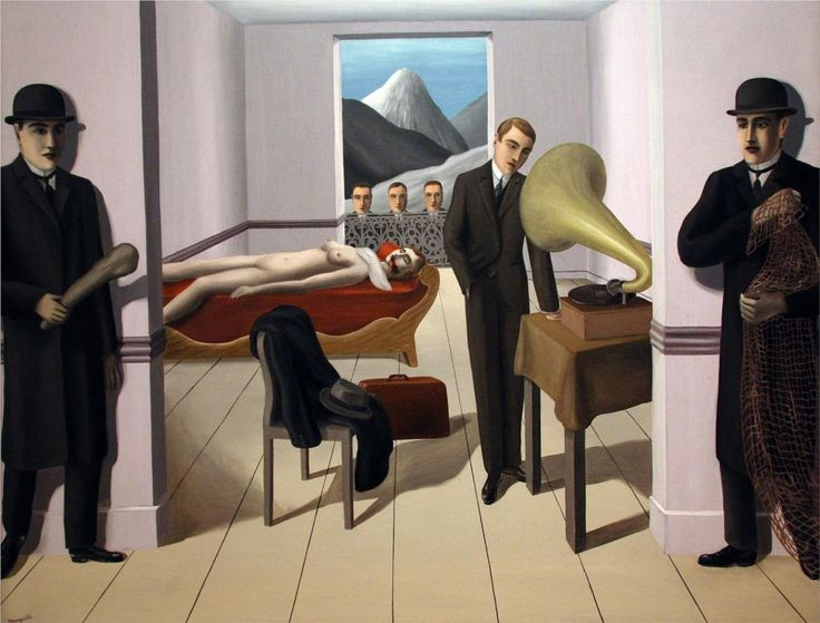 The Menaced Assassin by René Magritte.