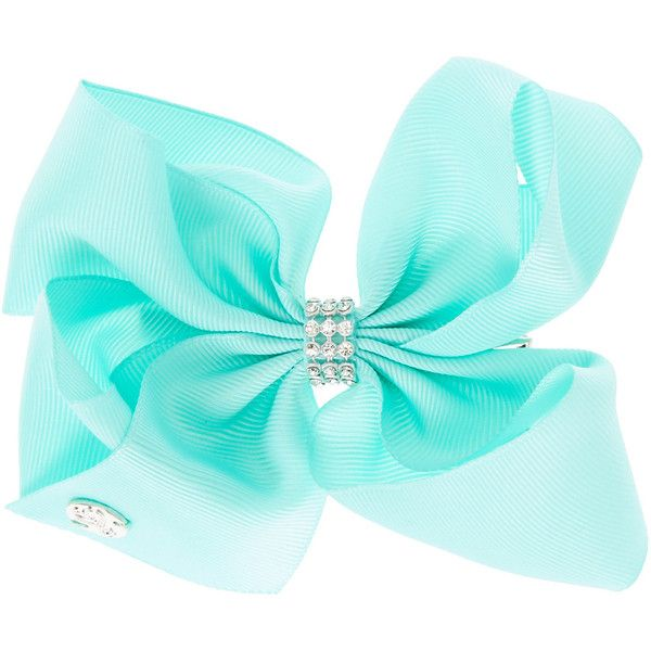 JoJo Siwa Small Rhinestone Keeper Mint Hair Bow ($1,230) ❤ liked on Polyvore featuring accessories, hair accessories, bow, jojo siwa, hair bows, siwa, bow hair accessories, sparkly hair accessories and rhinestone hair bows