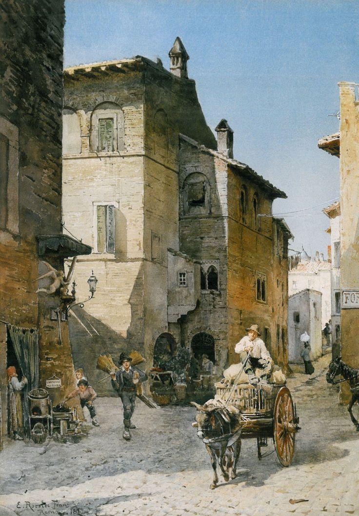 Abitazioni medievali e Palazzo Mattei - Ettore Roesler Franz