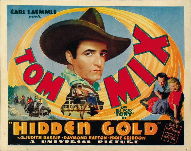 Hidden Gold 1932 Tom Mix Cult Western movie poster print