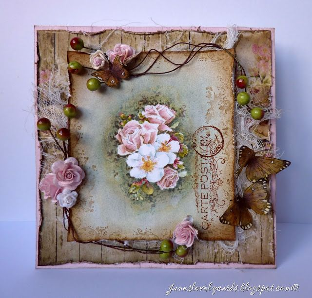 Stempelglede :: Design Team Blog: Vintage Garden Birthday Card - Jane Johnson.