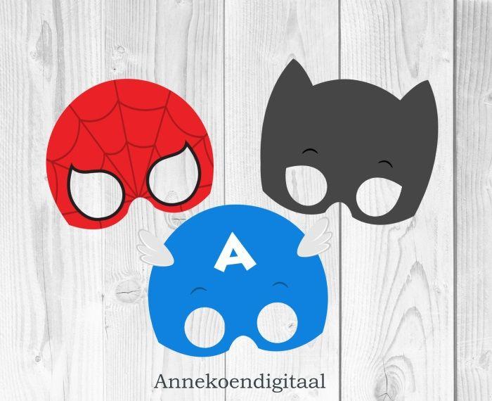 DIY Superheld Maskers Printable
