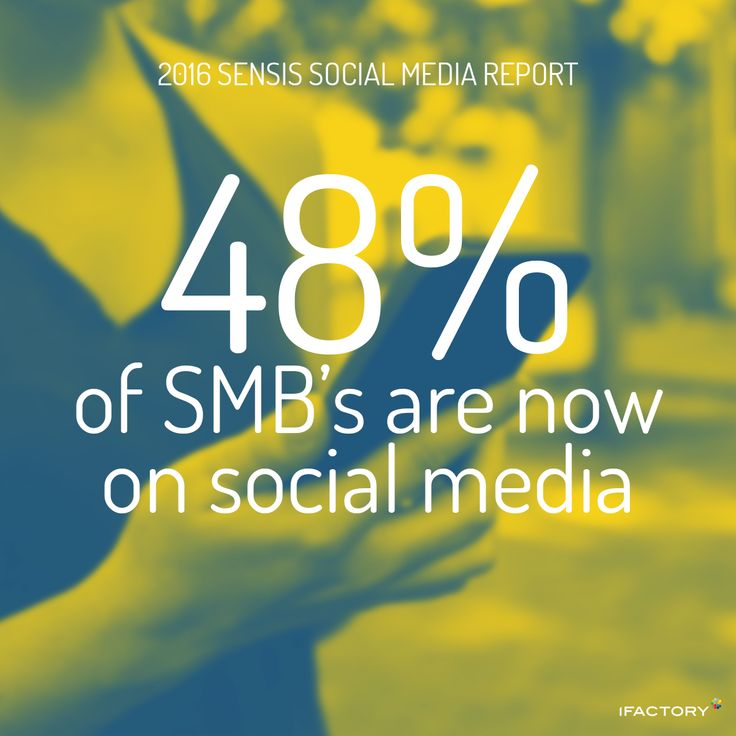 48 percent of SMBs are now on social media. #SensisSocialMediaReport #SensisSocialSocialMediaAustralia #SensisSocial #ifactory #ifactorydigital