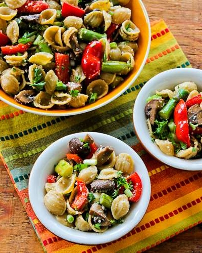 Whole Wheat Pasta Salad with Roasted Asparagus, Red Pepper, and ...