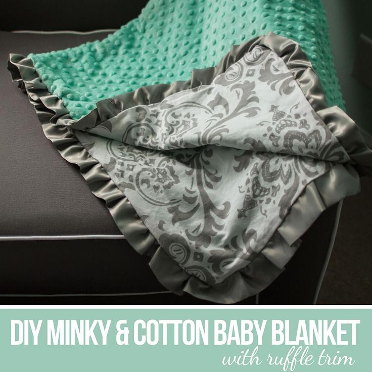 DIY Tutorial: DIY Baby Blankets / DIY Sew a Minky and Cotton Blanket - Bead&Cord