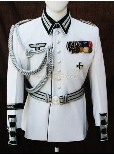 WW2 German Wehrmacht Heer (Army) White Wool GD Waffenrock- Here are some possie nazi costumes- Anthony.