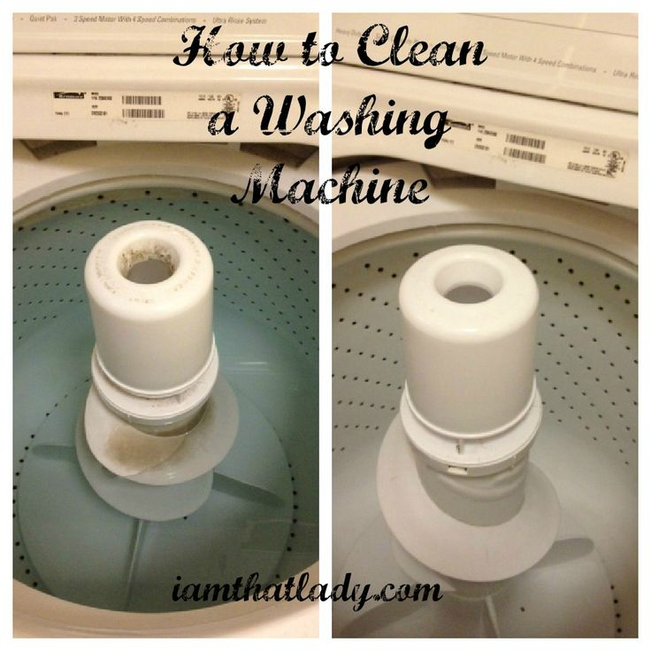 Find out how to clean your washing machine in 5 easy steps with items you already have in your home. @I Am That Lady