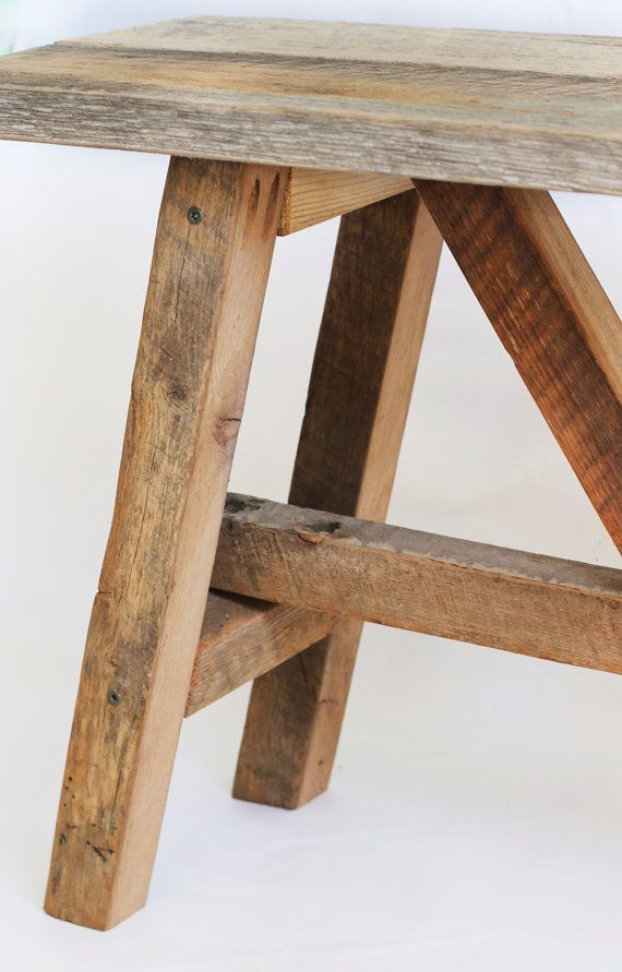 Banco de madera reciclada muebles de madera escandinavo - Bancos madera exterior ...