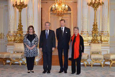 Luxarazzi:  Grand Duke Henri and Grand Duchess Maria Teresa welcomed Austrian President Heinz Fischer and First Lady Margit Fischer, February 2016