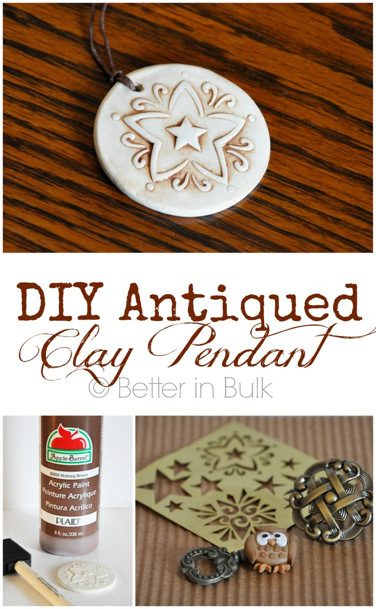 Want an easy craft that's perfect for a gift for a special friend (or for yourself)? You'll love this DIY Antiqued Clay Pendant tutorial.