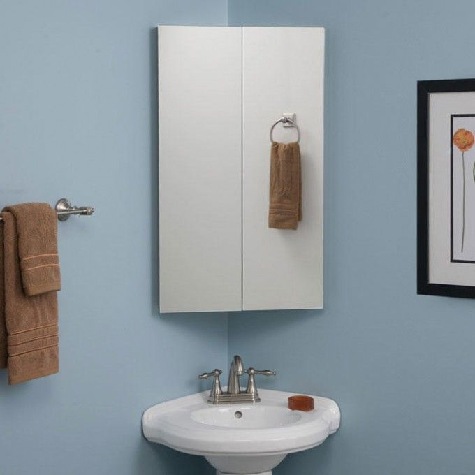 Best Corner Medicine Cabinet Ideas On Pinterest Corner - Corner mirror for bathroom for bathroom decor ideas