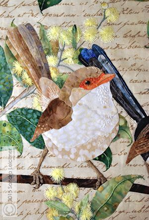 hand embroidered wren pattern | What Are Quilters Blogging About Today?