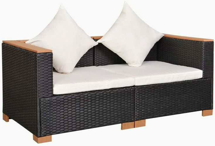 Garden Sofa Set 6pc Rattan Patio Wicker Couch 2 Seater Clearance Home Furniture Garden Sofa With Images Summer Furniture Garden Sofa Set Garden Sofa