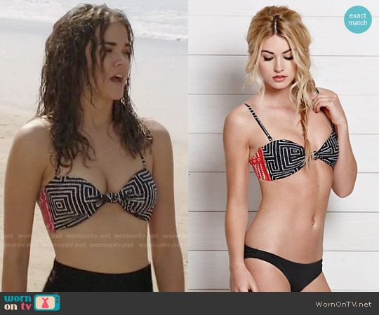 Callie's printed bikini top on The Fosters.  Outfit Details: http://wornontv.net/50115/ #TheFosters