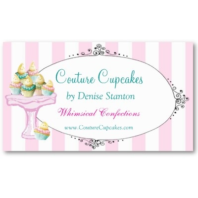 Couture Cupcakes Business Card from Zazzle.com