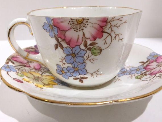 Taylor y Kent taza y plato Bone China Floral por AprilsLuxuries