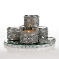 Eve Victoria Scented Candles - Diamante Candle Tin