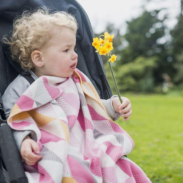 Weegoamigo Knitted Baby Blanket $79.95 - Geo Pink
