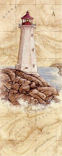 Light House with mapped background