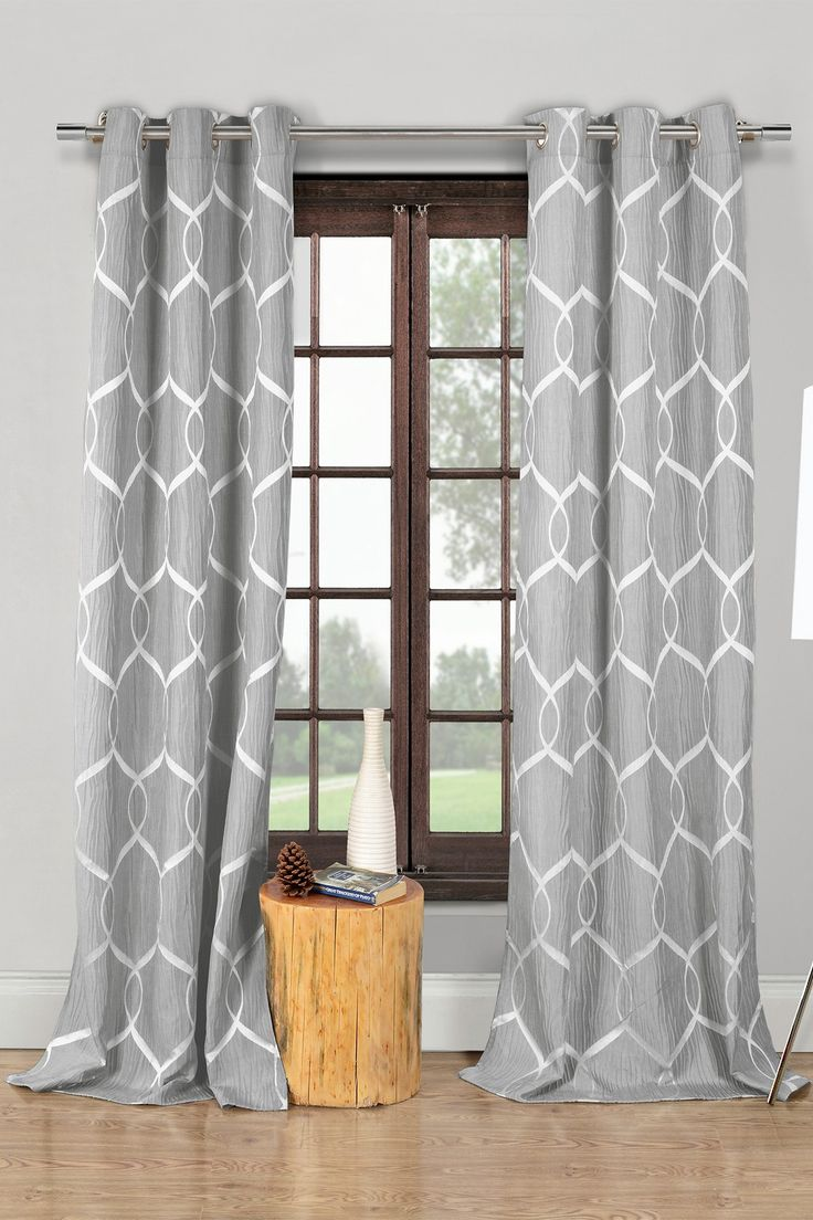 Flat panel curtains - Quey Wrinkle Wave Grommet Panel Curtains Set Of 2 Grey Nordstrom Rack Sponsored
