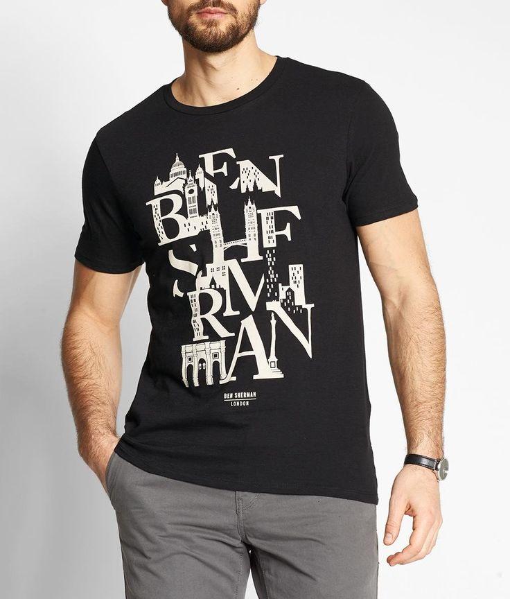 BEN SHERMAN Typography Tee Mod Fit MB12311
