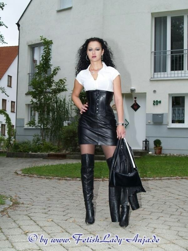Pin By David Fisher On My Style Leather Dresses Black