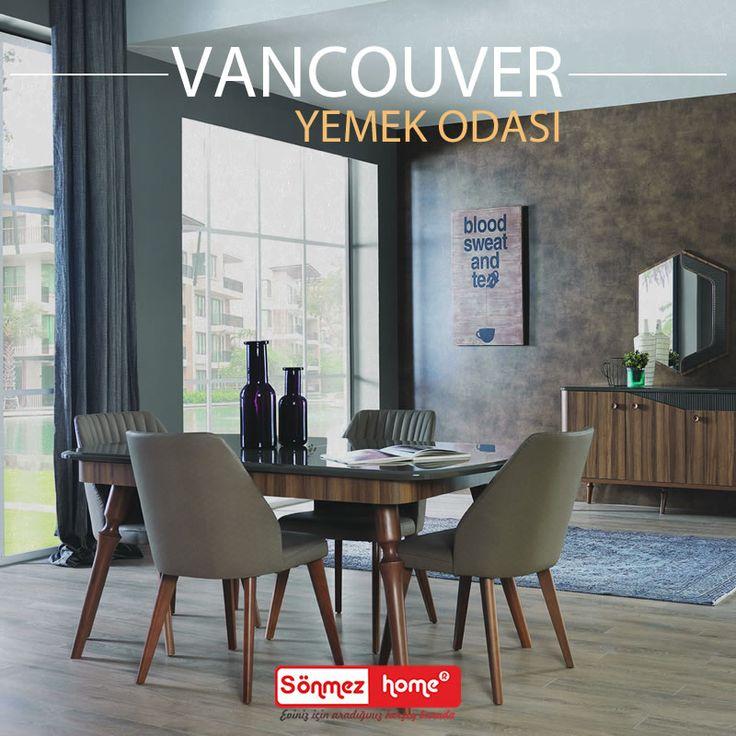 Vancouver Modern Yemek Odası Takımı ile keyifli sofraların tadını çıkarın.. #Modern #Furniture #Mobilya #Vancouver #Yemek #Odası #Sönmez #Home