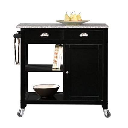 Better Homes and Gardens Kitchen Cart, Black/Granite Review