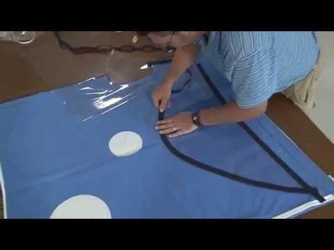 Hoe zelf een bootkap maken uit bootdoek - YouTube