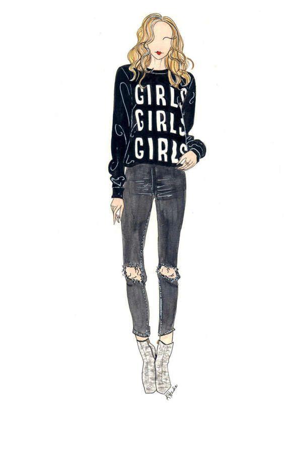 Girls Girls Girls  Prints  8x10  Various by KristinaHerediaArt